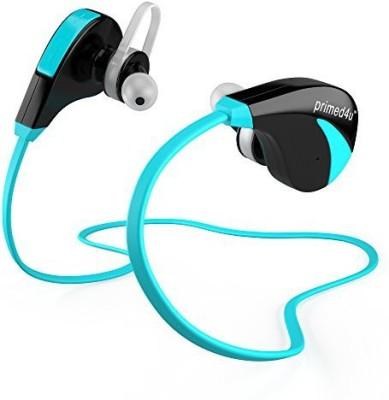 Primed4U Primed4U Best Bluetooth Headphones with Mic | Wireless Stereo In-Ear Sport Headphones [Blue] Bluetooth Headset with Mic(Blue, In the Ear)