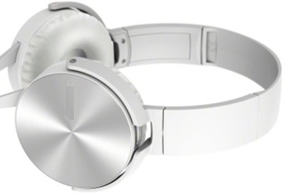 A Connect Z MDR-XB450-Stylish Amazing Headphn -211 Headphone(White, Over the Ear) 1