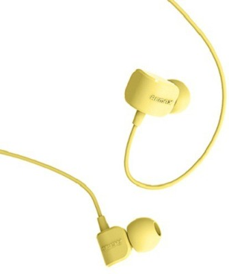 Remax 502 Wired Headset with Mic(Yellow, In the Ear) 1