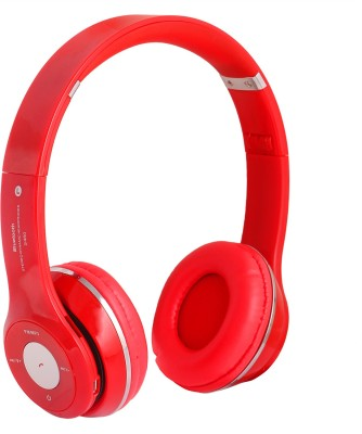 REJUVENATE S460 WIRED & WIRELESS WITH TF CARD SUPPORT Bluetooth Headset(Red, On the Ear)