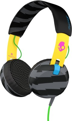 Skullcandy Grind Wired Headset with Mic(Yellow, On the Ear) 1