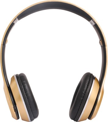 REJUVENATE S460 WIRED & WIRELESS WITH TF CARD SUPPORT Bluetooth Headset(GOLDEN, On...
