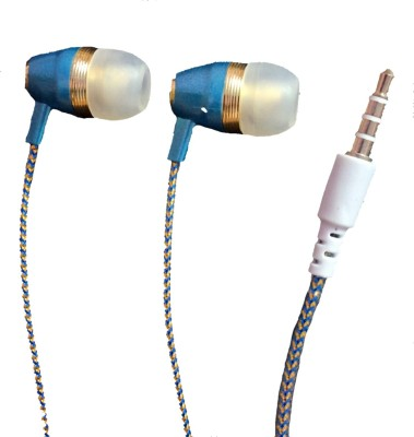 Silco Dilruba Series Universal Handsfree Wired Headset with Mic(Blue, In the Ear)  available at flipkart for Rs.215