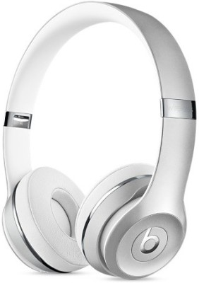 Beats MNEQ2ZM/A Bluetooth Headset with Mic(Silver, On the Ear)