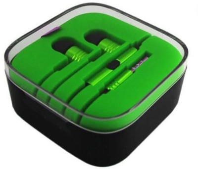 Ubon Big Daddy Bass IBerry Auxus Prime Hi Bass Stero Dynamic Wired Headset with Mic(Green, In the Ear) Flipkart