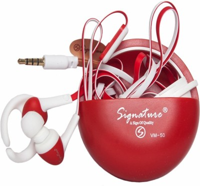 Signature VM-50 Headphone(Red, In the Ear) 1