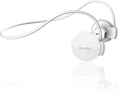 SoundBot SB552 Behind the Neck Bluetooth Headset with Mic(White, Over the Ear) 1