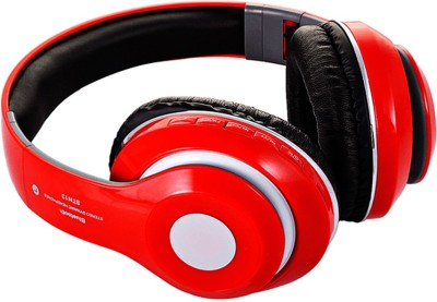 Muren MK26-STN-13-2, 4 in 1 MP3/FM/SD Card/Handsfree function Bluetooth Headset with Mic(Red, Over the Ear) 1