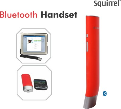 Squirrel BSV 009 Bluetooth Headset with Mic(Red, On the Ear) 1
