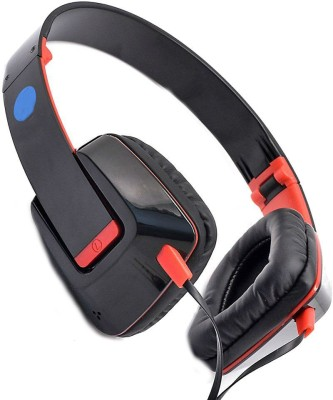 Shrih Dynamic Stereo Wired Headset With Mic(Red Black)