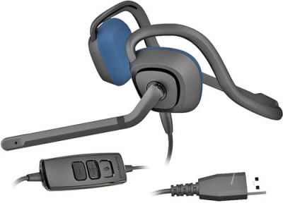 Plantronics Audio 646 DSP Wired Headset with Mic(Black, On the Ear) 1