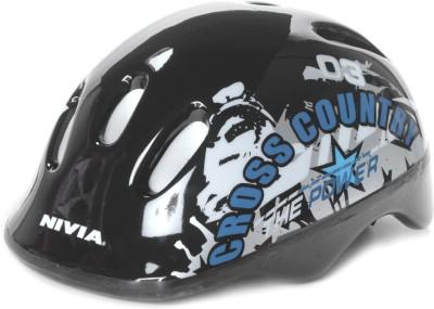 Nivia Cross Country Skating Helmet(Black, Silver)  available at flipkart for Rs.768