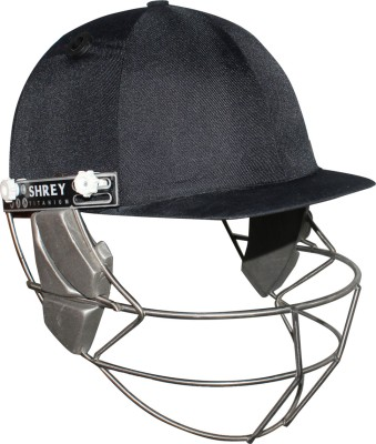 Shrey Master Class Helmet with Titanium Visor Cricket Helmet(Navy Blue) at flipkart