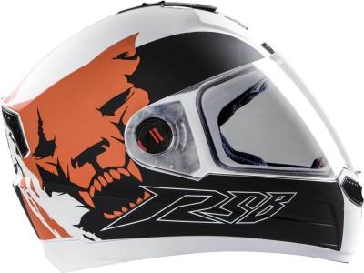 Steelbird Air SAB-1 Beast Motorbike Helmet(MAT WHITE ORANGE)
