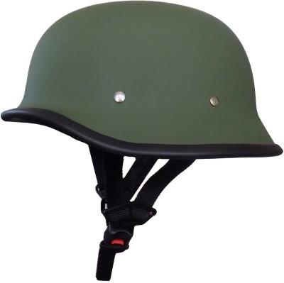 Anokhe Collections Retro German World War 2 Style Motorbike Helmet(Matte Green)