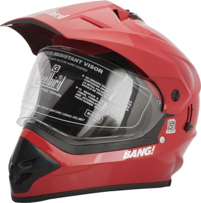 Steelbird SB-42 Bang Red Motorbike Helmet(Red)