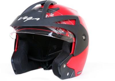 VEGA Crux OF (Open Face) Motorbike Helmet(Red)