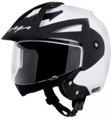 VEGA Crux OF (Open Face) Motorbike Helmet(White)