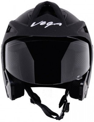 VEGA Crux OF (Open Face) Motorbike Helmet(Black)