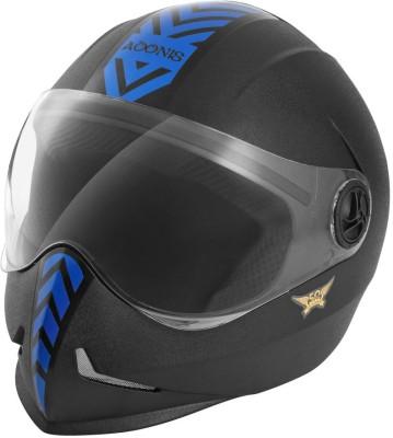 Steelbird Adonis Dashing Motorbike Helmet(Black, Blue)  available at flipkart for Rs.800