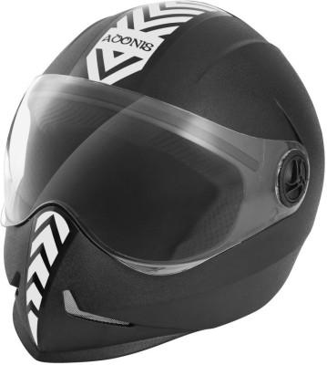 Steelbird Adonis Dashing Motorbike Helmet(Black, Silver)  available at flipkart for Rs.800