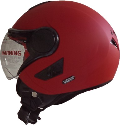 Vega Verve Dull Red Motorbike Helmet(Dull Red)