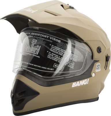 Steelbird SB-42 Bang Mat Desert Strom Motorbike Helmet(Dusty Brown)