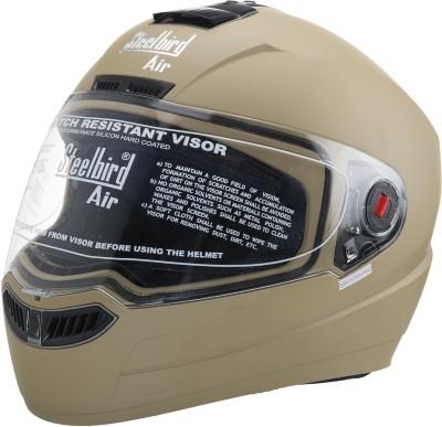 Steelbird Sba-1 Matt Desert Storm Motorbike Helmet(Brown)