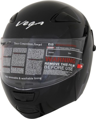 Vega Boolean Motorsports Helmet(Gloss Black) at flipkart