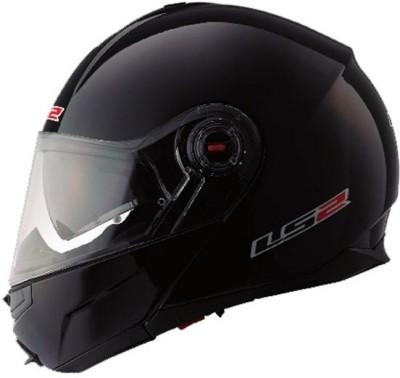 LS2 Flip Up Motorsports Helmet(Matt Black)  available at flipkart for Rs.6700