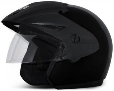 Vega Cruiser With Peak Motorbike, Motorsports, Cycling Helmet(Black)