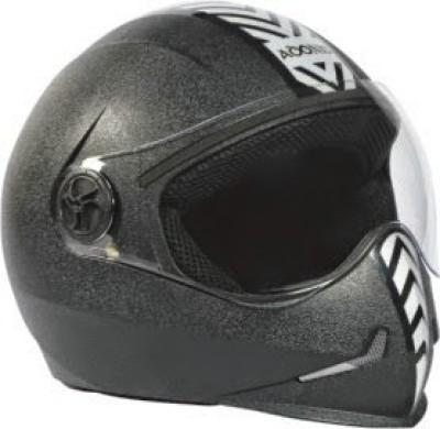 Steelbird Adonis Dashing Motorbike Helmet(Black, Silver)  available at flipkart for Rs.793