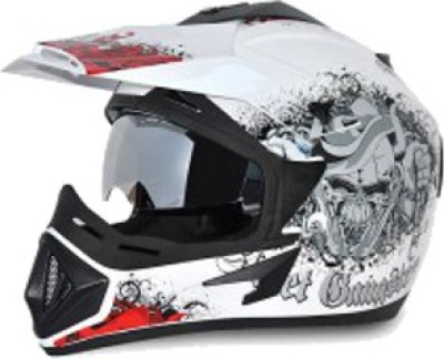 VEGA OFF ROAD D/V GANGSTER Motorbike Helmet(White Orange)