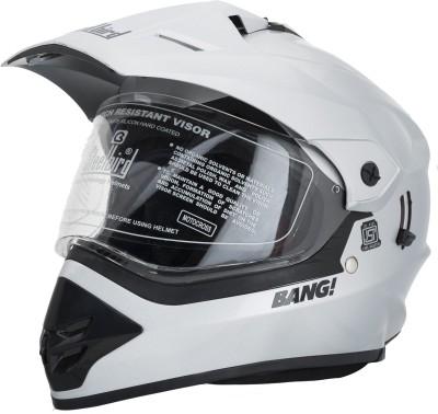 Steelbird SB-42 Silver Motorbike Helmet(Silver)
