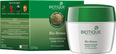 Buy Biotique Bio Henna Fresh Powder Hair Color For Greying Hair 90 G