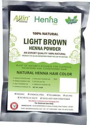 Allin Exporters Natural Light Brown Henna Hair Color(60 g) Flipkart