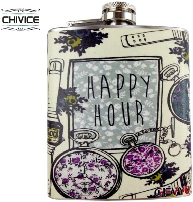 CHIVICE Designer Stainless Steel Hip Flask(203 ml)  available at flipkart for Rs.225