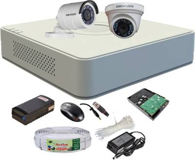 Hikvision-DS-7104HGHI-F1-Mini-4CH-Dvr,-1(DS-2CE56COT-IRP)-Dome,-1(DS-2CE16COT-IRP)-Bullet-Camera-(With-Mouse,-500GB-HDD,-Bnc&Dc-Connectors,Power-Supply,Cable)
