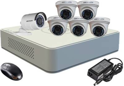 Hikvision-DS-7108HGHI-F1-Mini-8CH-Dvr,-5(DS-2CE56COT-IR)-Dome,1(DS-2CE16COT-IR)-Bullet-Camera-(With-Mouse)