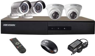 Hikvision-DS-7204HGHI-E1-4CH-Dvr,-2(DS-2CE56COT-IR)-Dome,-2(DS-2CE16COT-IR)-Bullet-Cameras-(Mouse,-Remote)