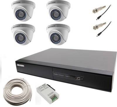 Hikvision-DS-7104HGHI-E1-4CH-Dvr,-4(DS-2CE56C0T-IR)-Dome-Camera-(With-Cable,-BNC-&DC-Connectors,-Power-Supply)