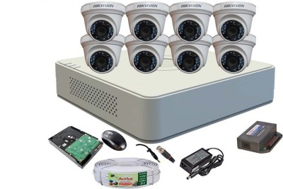 Hikvision-DS-7108HGHI-F1-Mini-8CH-Dvr-,-8(DS-2CE56COT-IR)-Dome-Camera-(With-Mouse,-1TB-HDD,-Bnc&Dc-Connectors,Power-Supply,Cable)