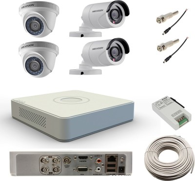 Hikvision-DS-7104HWI-SH-4Channel-DVR-+-2-Bullet-+2-Dome-CCTV-Camera-(With-Cable,-BNC-Connectors,-DC-Pins)