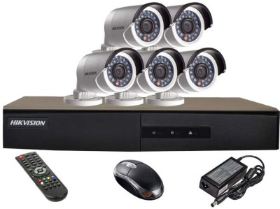 Hikvision-DS-7208HGHI-E1-8CH-Dvr,-5(DS-2CE16COT-IR)-Bullet-Camera-(With-Mouse,-Remote)