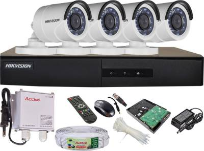 Hikvision-DS-7204HGHI-E1-4CH-Dvr,-4(DS-2CE16COT-IRP)-Bullet-Cameras-(with-Mouse,-Remote,-1TB-HDD,Cable,-Bnc&Dc-Connectors,Power-Supply)