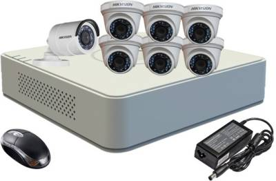 Hikvision-DS-7108HGHI-F1-Mini-8CH-Dvr,-6(DS-2CE56COT-IR)-Dome,1(DS-2CE16COT-IR)-Bullet-Camera-(With-Mouse)