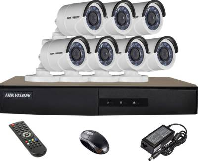 Hikvision-DS-7208HGHI-E1-8CH-Dvr,-7(DS-2CE16COT-IRP)-Bullet-Camera-(With-Mouse,Remote)