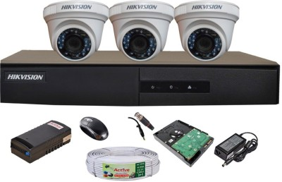 Hikvision-DS-7204HGHI-E1-4CH-Dvr,-3(DS-2CE56COT-IRP)-Dome-Camera-(With-Mouse,-Remote,-500GB-HDD,Cable,-Bnc&Dc-Connectors,Power-Supply)