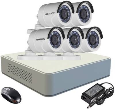 Hikvision-DS-7108HGHI-F1-Mini-8CH-Dvr,-5(DS-2CE16COT-IR)-Bullet-Camera-(With-Mouse)