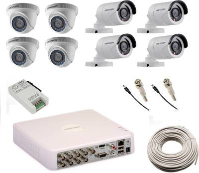 Hikvision-DS-7108HWI-SH-8Channel-DVR-+-4-Dome-+-4-Bullet-CCTV-Cameras-(With-Cable,-BNC-Connectors,-DC-Pins)